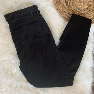 Mother Jeans Looker High Waist Ankle 32 Black